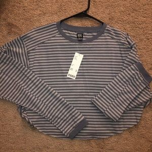 Stripped Urban Outfitters Cropped Longsleeve